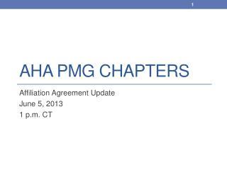 AHA PMG Chapters