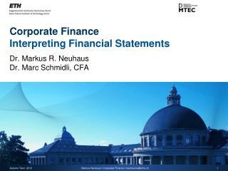 Corporate Finance Interpreting Financial Statements