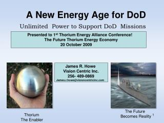 A New Energy Age for DoD