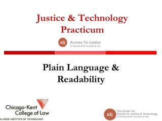 Justice & Technology  Practicum
