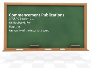 Commencement Publications