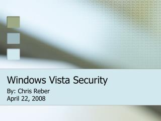 Windows Vista Security