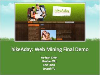 hikeAday : Web Mining Final Demo