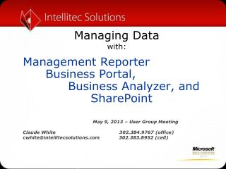 Managing Data with: