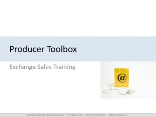 Producer Toolbox