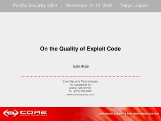 Analyzing exploit code quality.