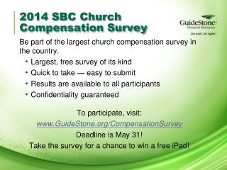 2014 SBC Church  Compensation Survey
