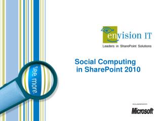 Social Computing in SharePoint 2010