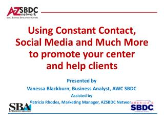 Using Constant Contact, Social Media and Much More to promote your center  and help clients