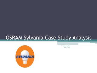 OSRAM Sylvania Case Study Analysis