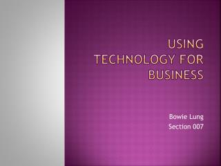Using technology for business