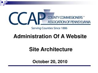Administration Of A Website  Site  Architecture