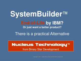 Conversion from system Builder to Nucleus AE