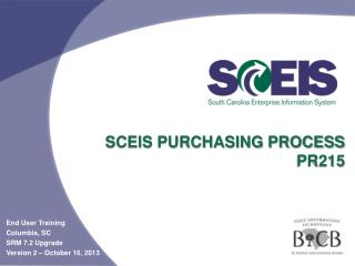 SCEIS Purchasing Process  PR215