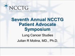 Seventh Annual NCCTG Patient Advocate  Symposium