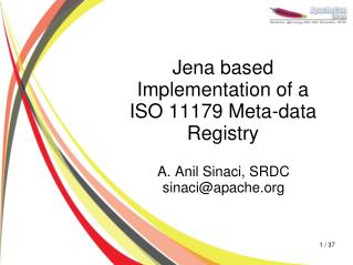 Jena based Implementation of a ISO 11179 Meta-data Registry