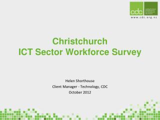 Christchurch  ICT  Sector Workforce Survey