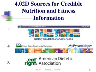 4.02D Sources for Credible Nutrition and Fitness Information