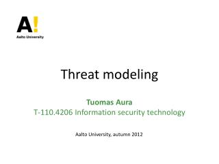 Threat modeling