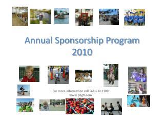 Annual Sponsorship Program 2010
