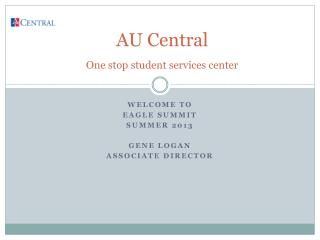 AU Central  One stop student services center