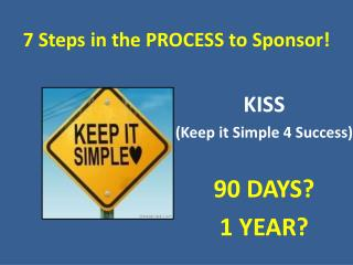 7 Steps in the PROCESS to Sponsor!