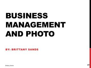 Business Management and photo