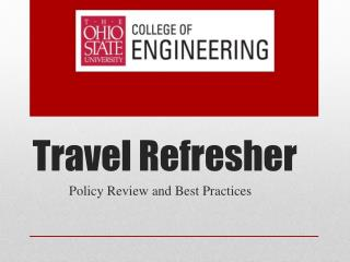 Travel Refresher