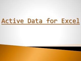 Active Data for Excel