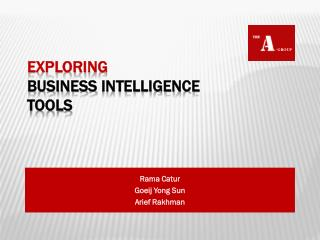 Exploring Business  Intelligence  Tools