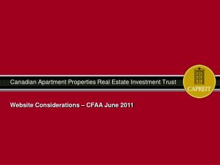 Canadian Apartment Properties Real Estate Investment Trust