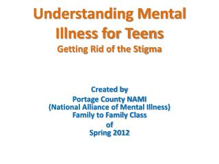 Understanding Mental Illness for Teens