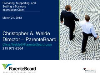 Christopher A. Welde  Director – ParenteBeard Chris.Welde@ParenteBeard.com 215 972-2364