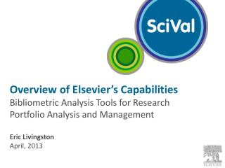 Overview of Elsevier's Capabilities