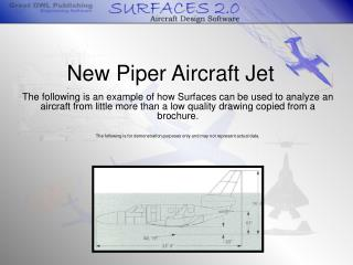 New Piper Aircraft Jet