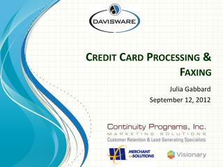 Credit Card Processing & Faxing