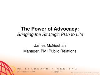 The Power of Advocacy: Bringing the Strategic Plan to Life