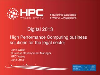 High Performance Computing business solutions for the legal sector