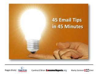 45 Email Tips in 45 Minutes