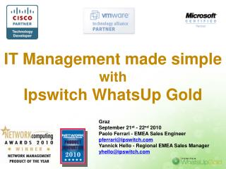 IT Management made simple  with  Ipswitch WhatsUp Gold