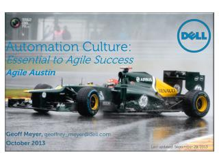Automation Culture: Essential to Agile Success Agile Austin