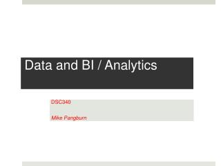 Data and BI / Analytics