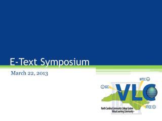 E-Text Symposium