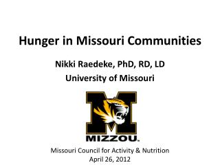 Hunger in Missouri Communities