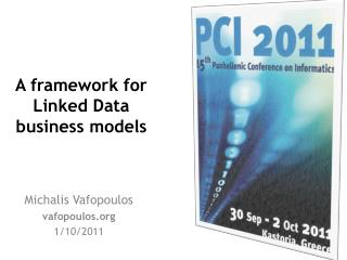 A  framework for Linked Data business models
