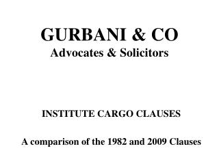 GURBANI  CO Advocates  Solicitors