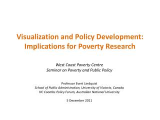 Visualization and Policy Development: Implications for Poverty Research