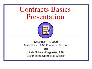 Contracts Basics  Presentation