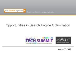 Opportunities in Search Engine Optimization