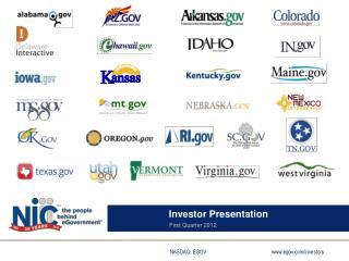 Investor Presentation First Quarter 2012